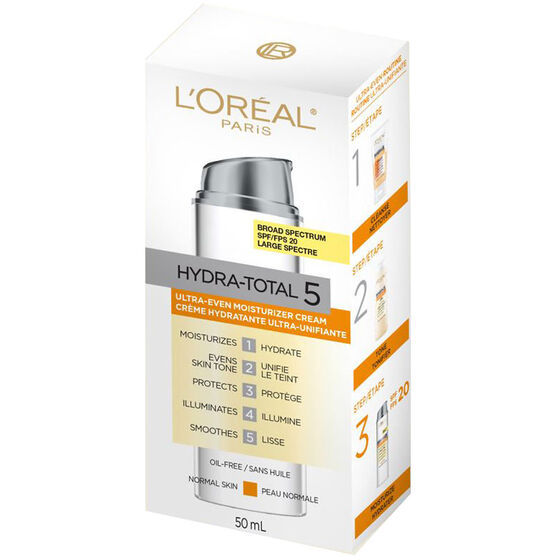 L'Oreal Hydra-Total 5 Ultra-Even Moisturizing Cream - SPF 20 - 50ml