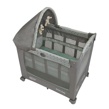 Graco Travel Lite Pack n Play with Stages - Keaton - Grey/Green