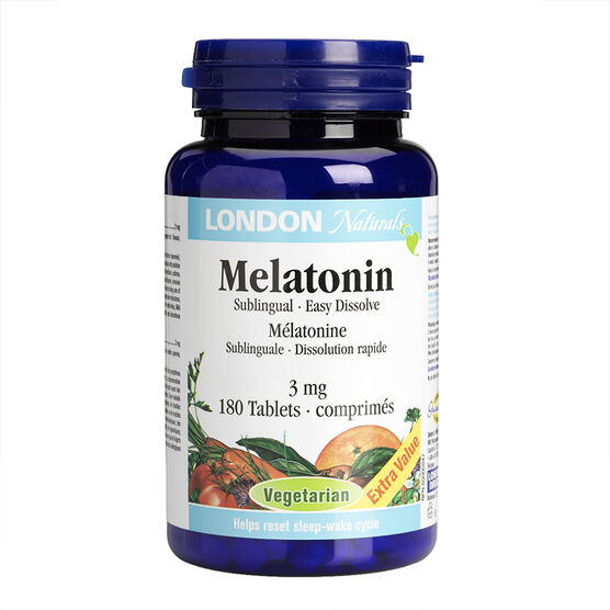 London Naturals Melatonin Sublingual - 3mg - 180's
