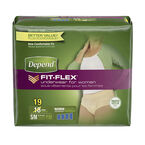 Depend Underwear for Women - Super Plus Absorbency - Small/Medium - 19's