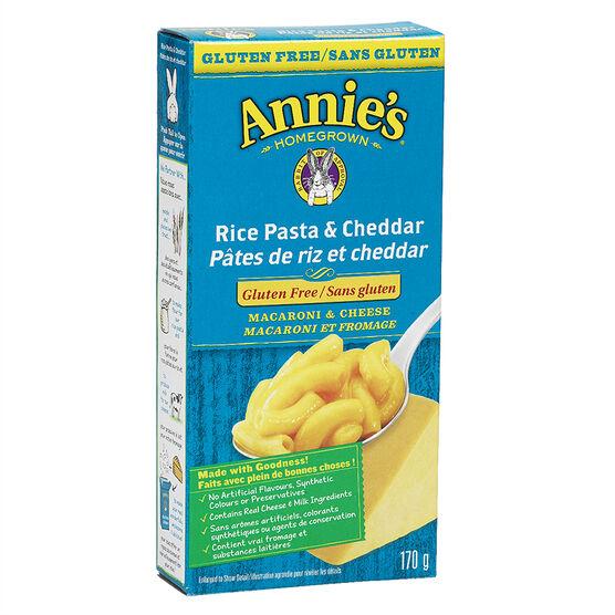 Annie's Rice Pasta & Cheddar - Gluten Free - 170g