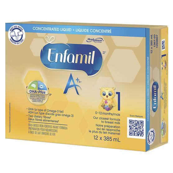 Enfamil A+ Concentrated Liquid Infant Formula - 12 x 385ml
