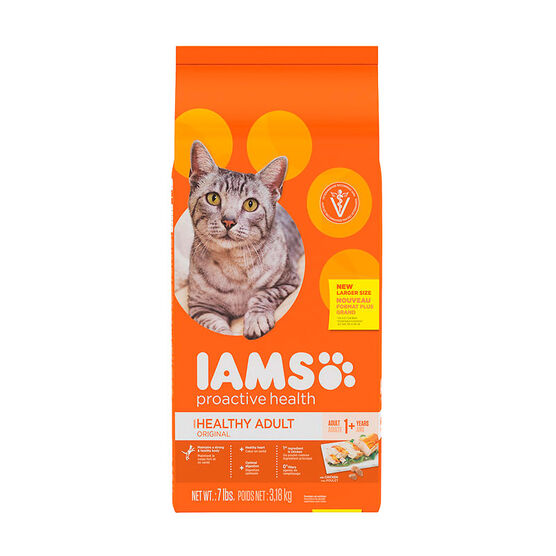 Iams Adult ProActive Cat Food - Original - 7lbs