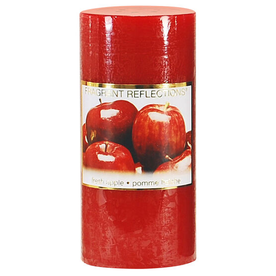 Fragrant Reflections Pillar Candle - Fresh Apple - 6 inch