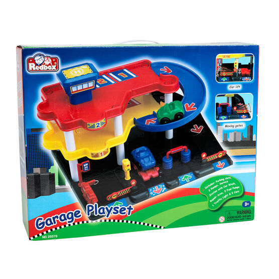 Red Box Garage Playset