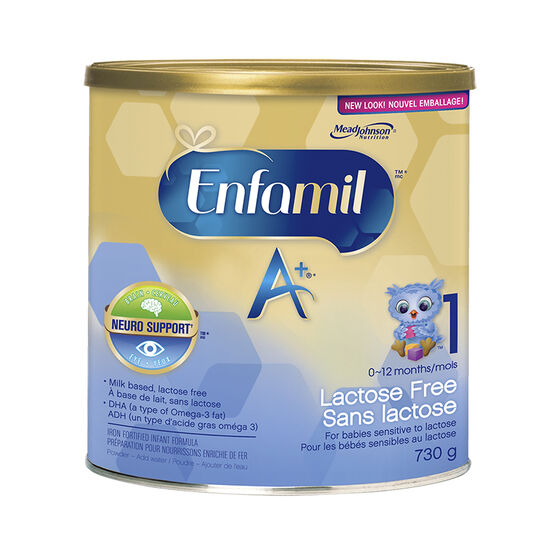 Lactose free formula for babies