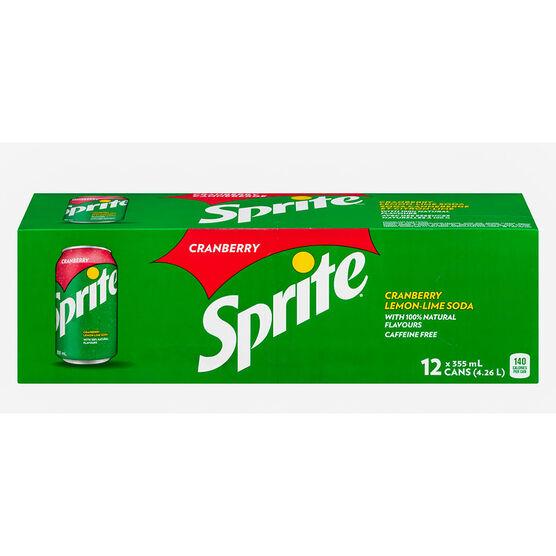 Sprite - Cranberry - 12 Pack