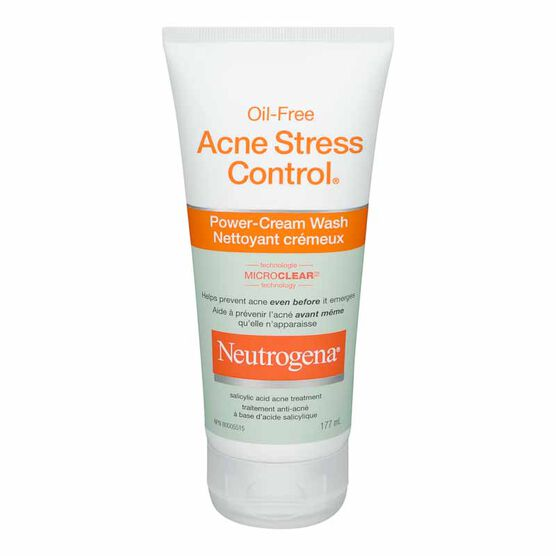 Neutrogena Oil-Free Acne Stress Control Power Cream Wash - 177ml