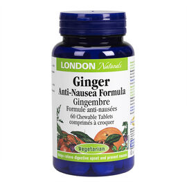 London Naturals Ginger Anti-Nausea Formula - Chewable - 60's