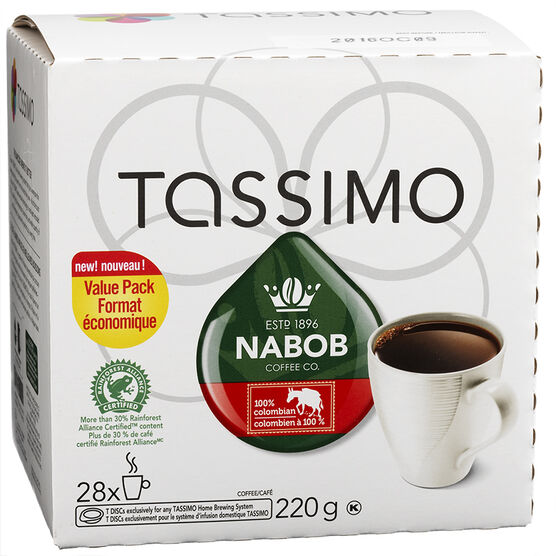 Tassimo Nabob Coffee - Columbia -  28 Servings