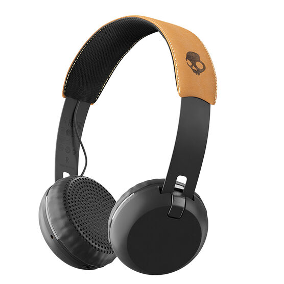 Skullcandy Grind Wireless Headphones - Black/Tan - S5GBWJ543