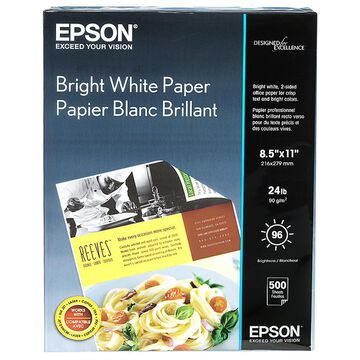 Epson Premium Bright White Paper - 8.5 x 11 - 500 Sheets - S041586