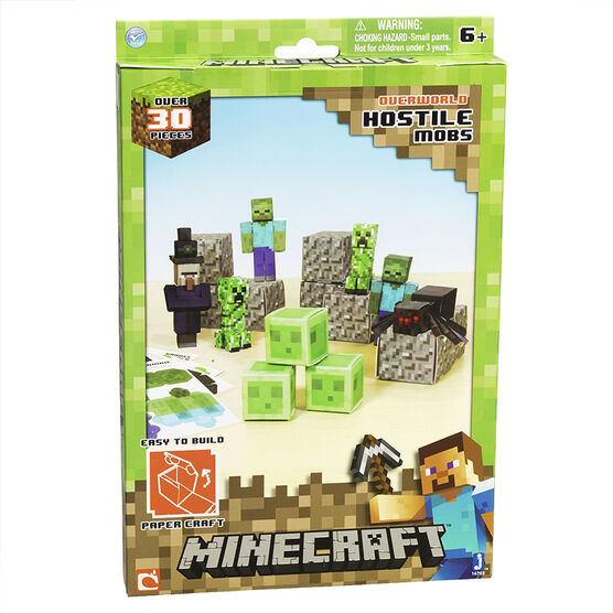 Papercraft Minecraft Overworld Hostile Mobs