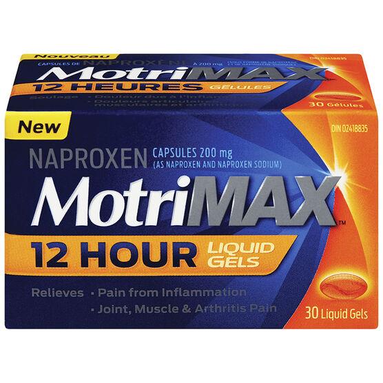 MotriMax Naproxen 12 Hour Liquid Gels - 30's
