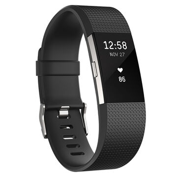 Fitbit Charge 2 - Black/Silver - Large