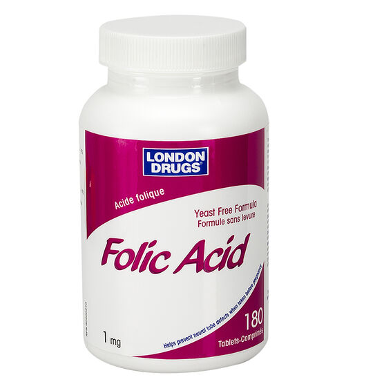 London Drugs Folic Acid - 1mg - 180's