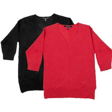 Coupe Pullover 3/4 Sleeve Top - Assorted - S-XL