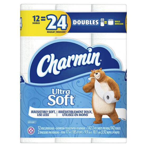Charmin Bathroom Tissue Ultra Soft - 12's/ Double Roll