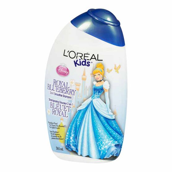 L'Oreal Kids Princess Cinderella Royal Blueberry 2 in 1 Smoothie Shampoo - 265ml