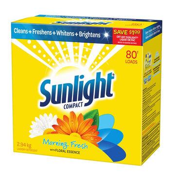 Sunlight Powder Laundry Detergent - Morning Fresh - 2.94kg/80 Uses
