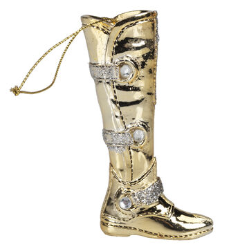Winter Wishes Elegance Boot Ornament - 3.5 inch