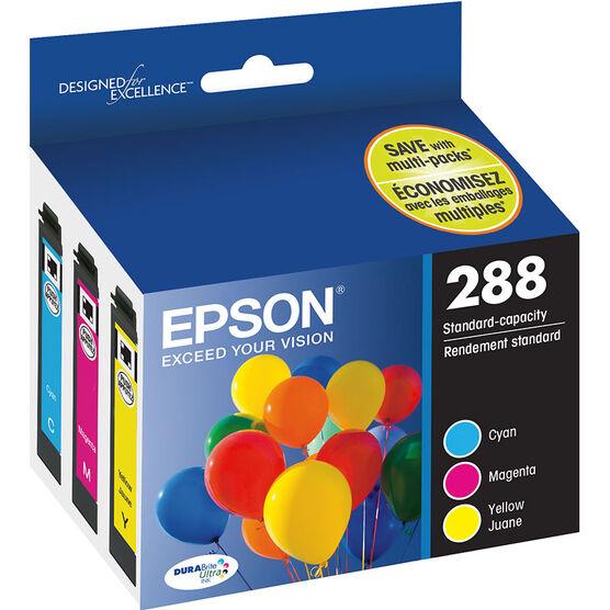 Epson 288 DuraBrite Ultra Ink - CMY - 3 pack - T288520-S