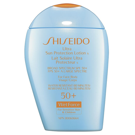Shiseido Ultimate Sun Protection Lotion WetForce for Sensitive Skin and Children - SPF 50+ - 100ml