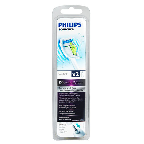 Philips Sonicare DiamondClean Standard Replacement Brush Heads - 2's