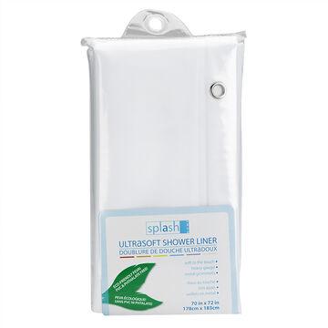 Splash Eva Ultrasoft Shower Liner - White