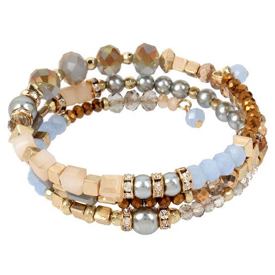 Haskell Coil Bracelet - Grey/Gold
