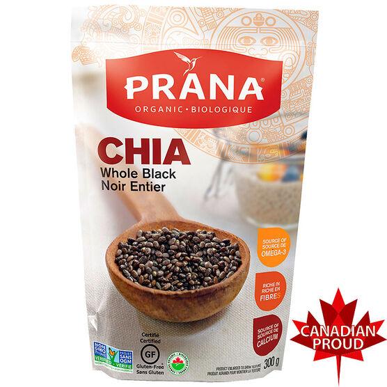 Prana Black Chia Seeds - Organic - 300g
