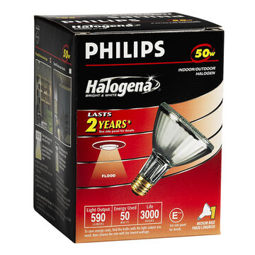 Philips 50W PAR30 Halogena Flood Light Bulbs - 160002