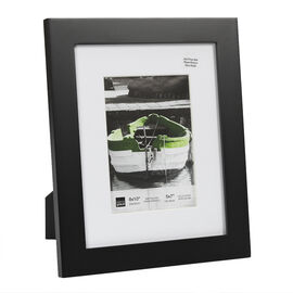 KG Langford Black Wood Frame - 8x10-Inch Matted for 5x7-Inch