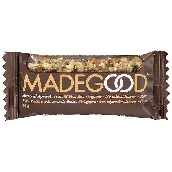 MADEGOOD Fruit & Nut Bar Organic - Almond Apricot - 36g