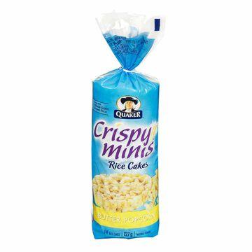 Quaker Crispy Minis Large Rice Cakes - Butter Popcorn - 127g