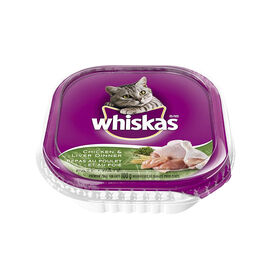 Whiskas Wet Cat Dinner - Chicken and Liver - 100g