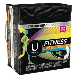 U by Kotex Fitness Liners - Regular - 10's