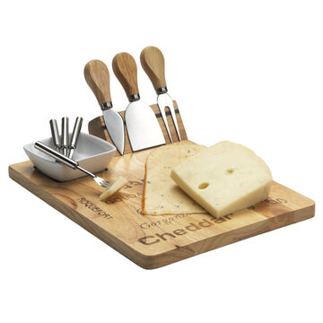 London Drugs Cheese Board with Knife Set - 9 piece