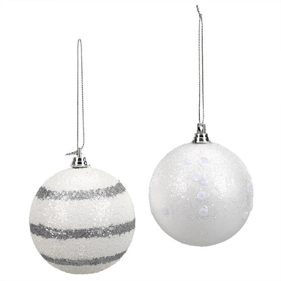 Glitter Ball Ornament - CE4158-13S1 -Assorted