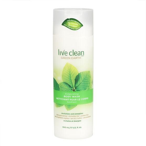 Live Clean Green Earth Invigorating Body Wash - 500ml