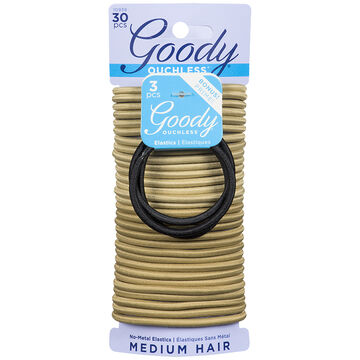 Goody Ouchless No-Metal Elastics Black - 10939 - 30's