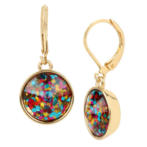 Betsey Johnson Confetti Drop Earrings - Multi