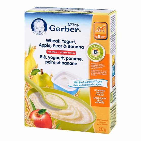 Nestle Baby Cereal - Wheat, Yogurt, Apple, Pear & Banana - 227g