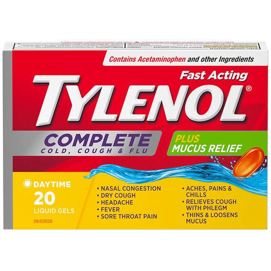 Tylenol* Complete Cold Cough & Flu Liquid Gels - 20's