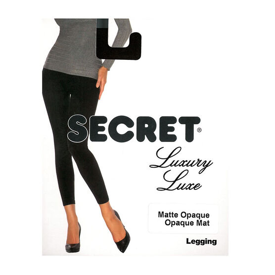 Secret Luxury Matte Legging - D - Black