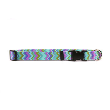 Yellow Dog Collar - Chevy Stripe - Medium