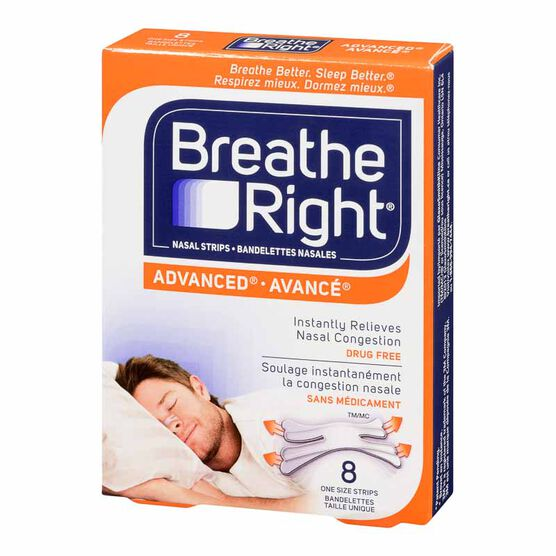 Breathe Right Advanced Nasal Strips - Clear - 8's