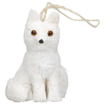 Winter Wishes White Fox Ornament - 3.9 inch