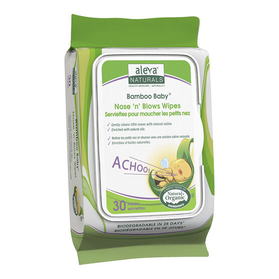 Bamboo Baby Nose n Blow Wipes - 30's
