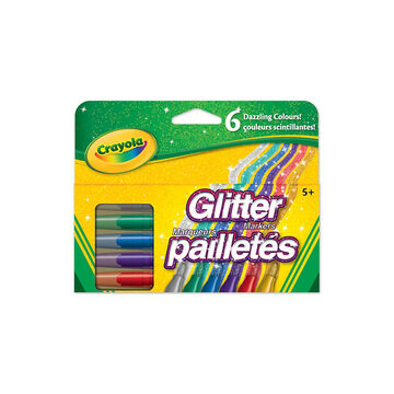 Crayola Glitter Markers - 6 pack